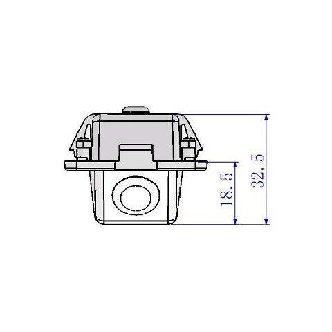 Автомобільна камера заднього виду для Mitsubishi Outlander Прев'ю 3