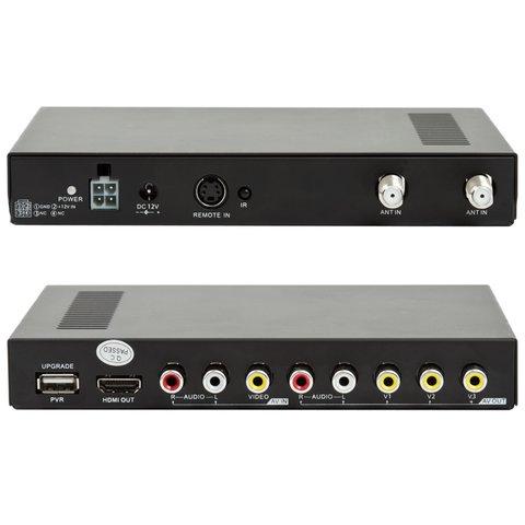 Автомобильный цифровой DVB-T-тюнер с функцией записи(DVB-T2010HD) Прев'ю 1