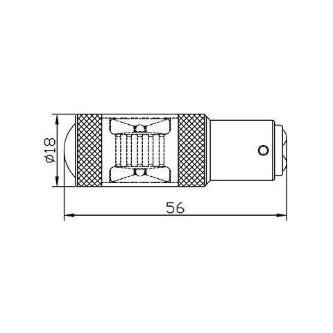 LED лампа гальмування UP-7G-1157HWB-30W(BAY15D) (біла, 12-24 В) Прев'ю 1